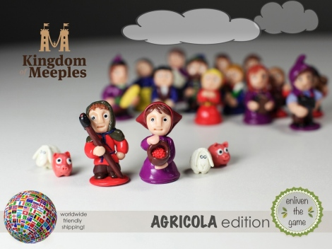Kingdom of Meeples: Minis for Agricola by Kingdom Of Meeples — On Kickstarter Now